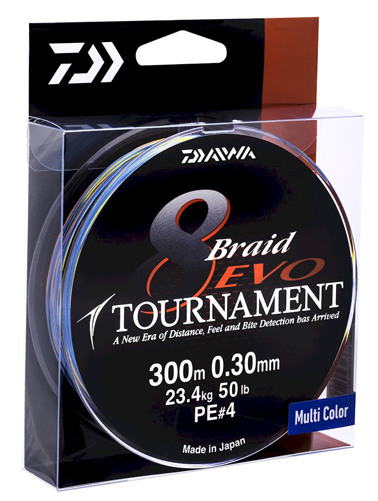 Tournament 8 Braid Evo - Multi-Colour Line