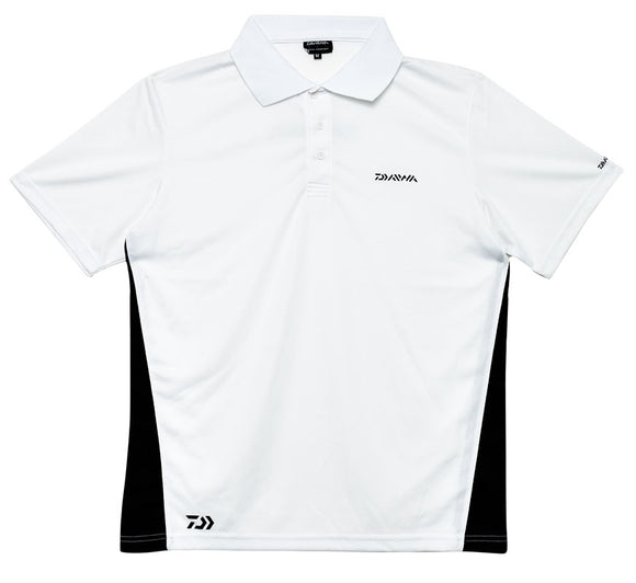 Daiwa Mesh Polo Shirt - White