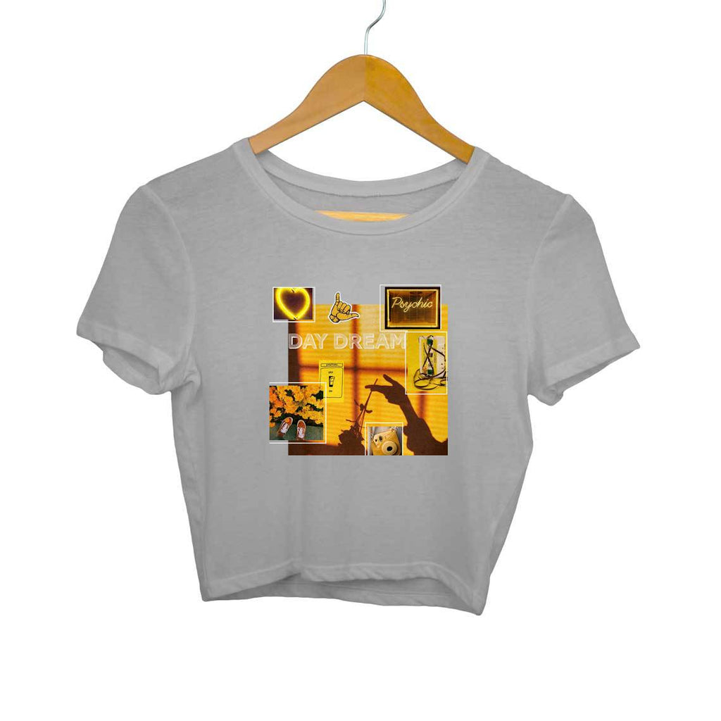 Yellow Aesthetics Crop top
