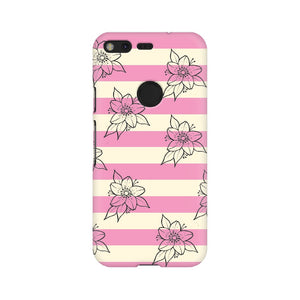 Floral pink and white Google Pixel & OnePlus cover