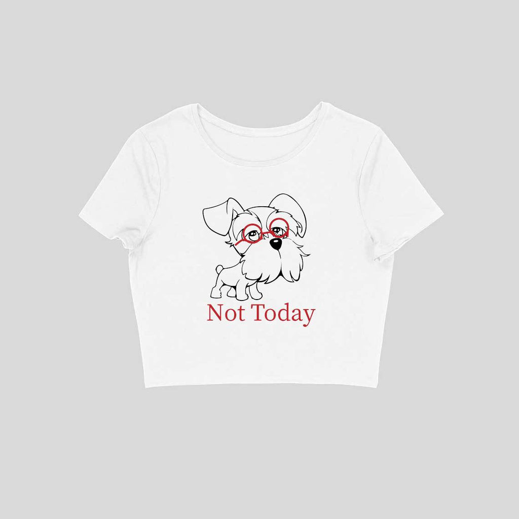 Not Today Crop Top