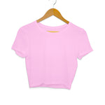 Plain pink crop top