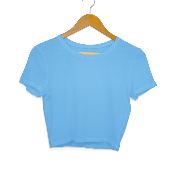 Plain light blue crop top