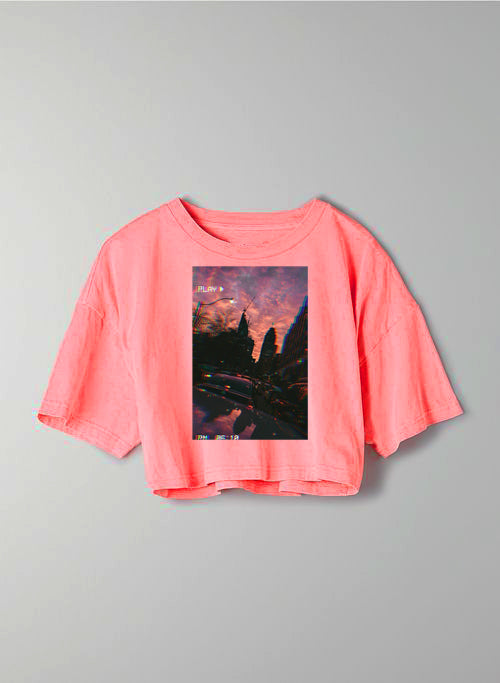 Aesthetic Picture Oversize Crop Top