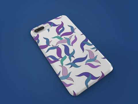 Purple blue Pattern HTC &  Nokia Phone Cover