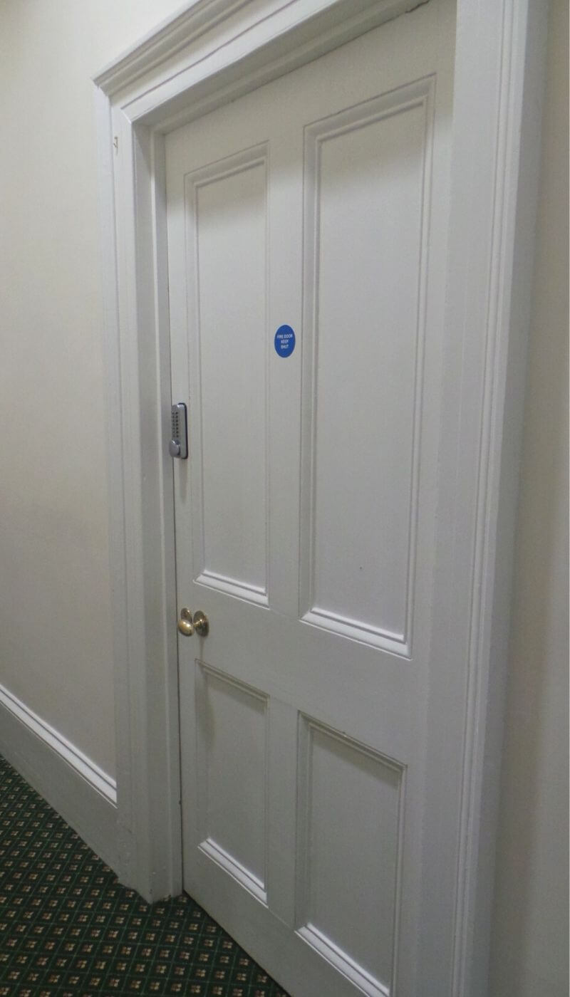 residential and nursing care fire doors