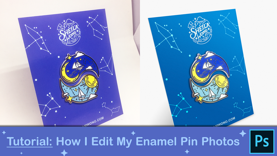 How I Edit My Enamel Pin Photos