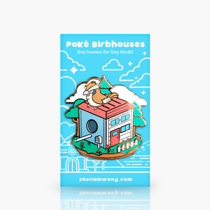 Birbhouses: Tiny Pigeon Enamel Pin