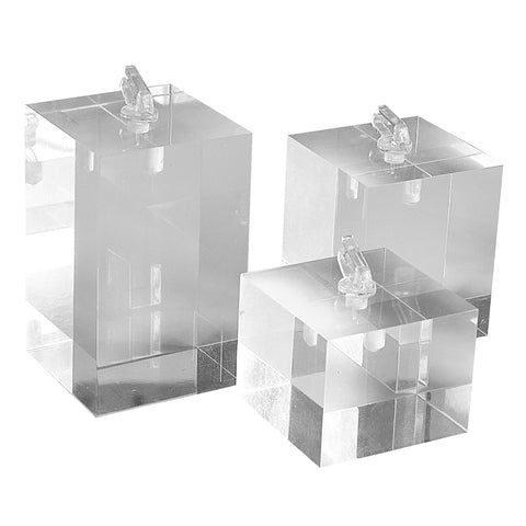 Clear Block Ring Clip Set