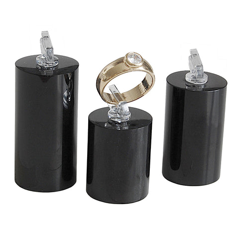 Black Round Ring Clip Set