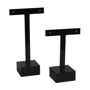 Black T Earring Square Base Set