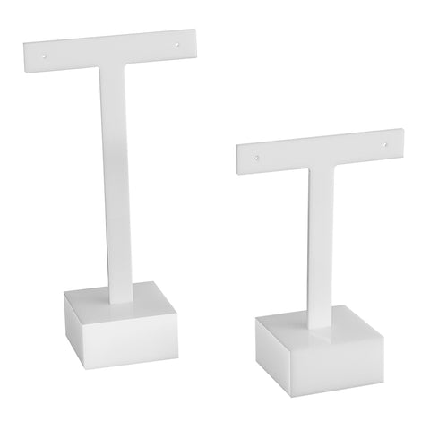 White T Earring Square Base Set