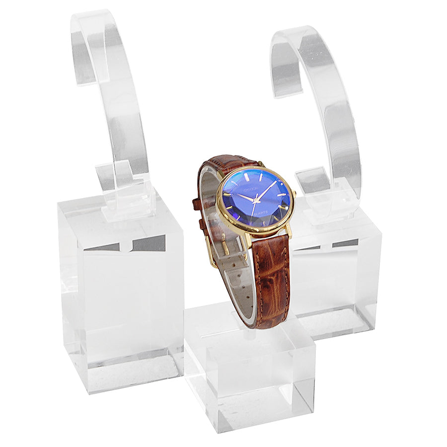 Clear Watch Cuff Set