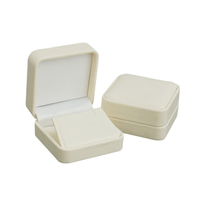 Cream Soft Leatherette Earring/Pendant Box