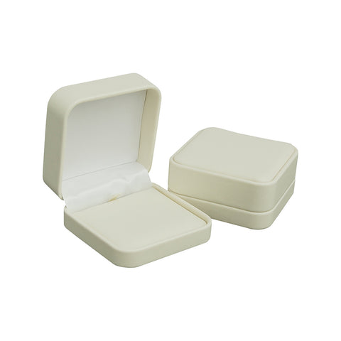 Cream Soft Leatherette Multi-Use Jewelry Box