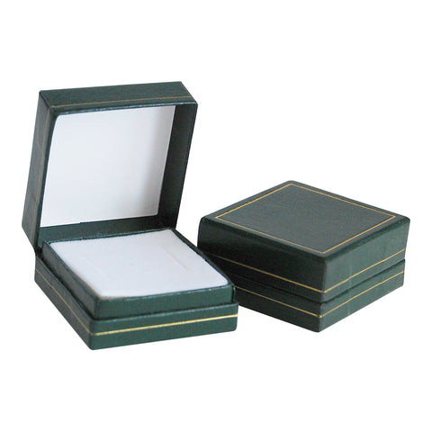 Green Hinged Earring Box