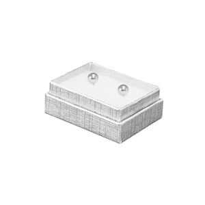 "Silver Cotton Fill Boxes - 1 3/4"" x 1 1/8"" x 5/8"""