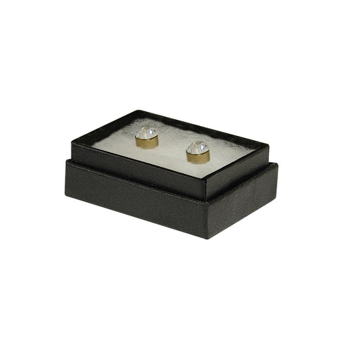 "Black Cotton Fill Boxes - 1 3/4"" x 1 1/8"" x 5/8"""