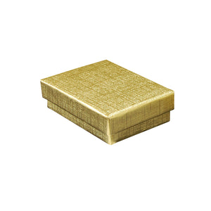 "Gold Cotton Fill Boxes - 2"" x 1 1/2"" x 5/8"""