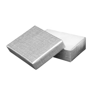 "Silver Cotton Fill Boxes - 2"" x 1 1/2"" x 5/8"""