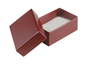 "Burgundy Cotton Fill Boxes - 2 1/2"" x 1 5/8"" x 1"""