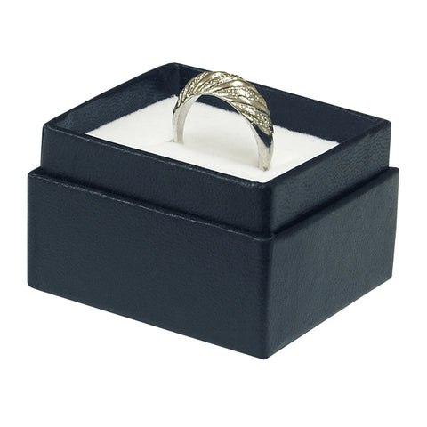 "Blue Ring Box - 2"" x 1 3/4"" x 1 1/4"""