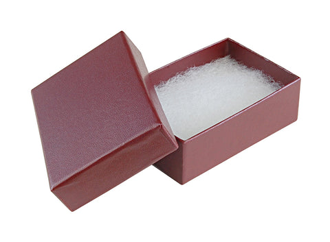 "Burgundy Cotton Fill Box - 3"" x 2"" x 1"""