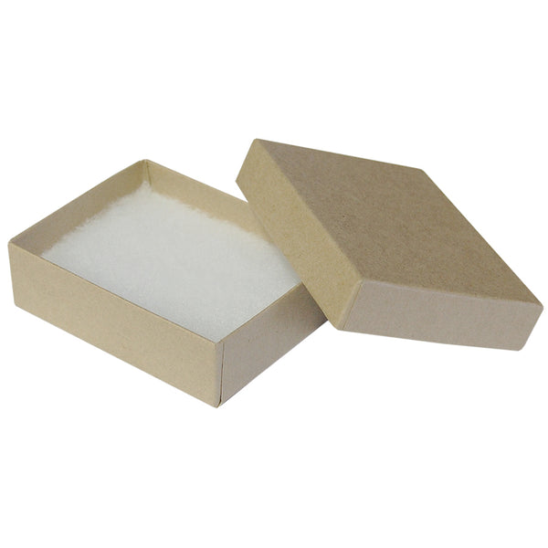 "Kraft Cotton Fill Boxes - 3"" x 2"" x 1"""