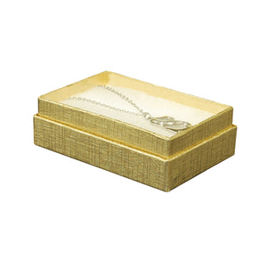 "Gold Cotton Fill Boxes - 3"" x 2"" x 1"""