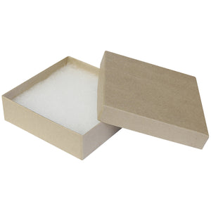 "Kraft Cotton Fill Boxes - 3 1/2"" x 3 1/2"" x 1"""
