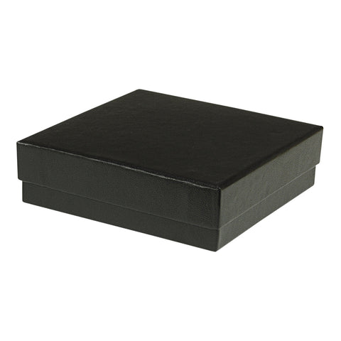 "Black Cotton Fill Boxes - 3 1/2"" x 3 1/2"" x 1"""