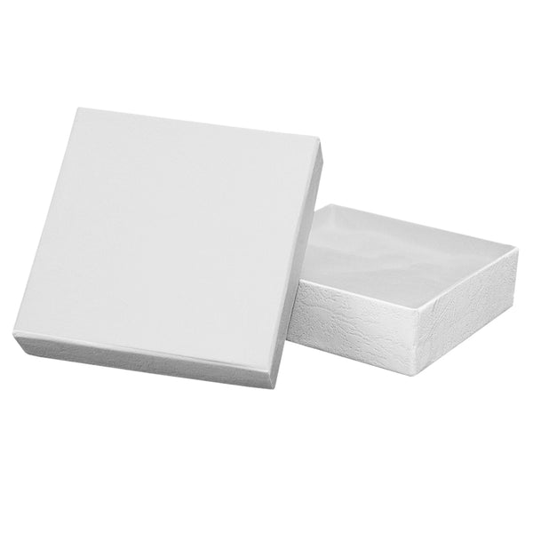 "White Cotton Filled Boxes - 3 1/2"" x 3 1/2"" x 1"""
