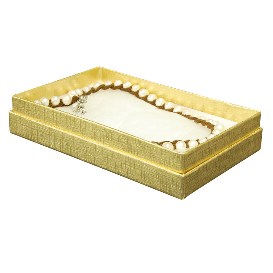 "Gold Cotton Fill Boxes - 5 1/2"" x 3 1/2"" x 1"""