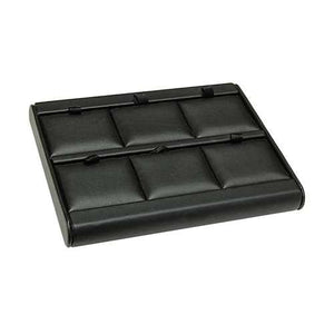 Black 6 Pad Jewelry Tray