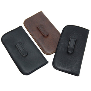 Leatherette Slip in Eyeglass Case with Clip
