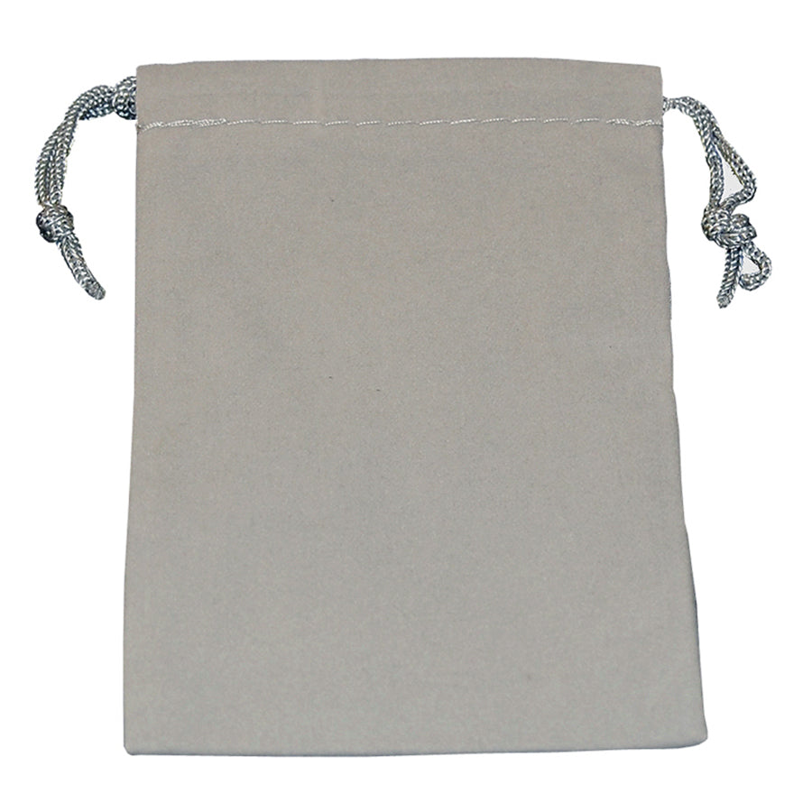 Gray Medium Velour Pouch