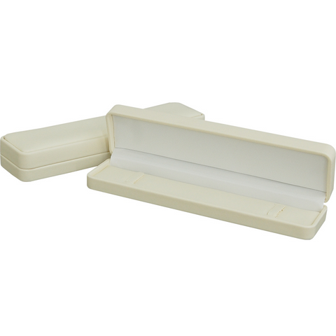Cream Soft Leatherette Bracelet Box