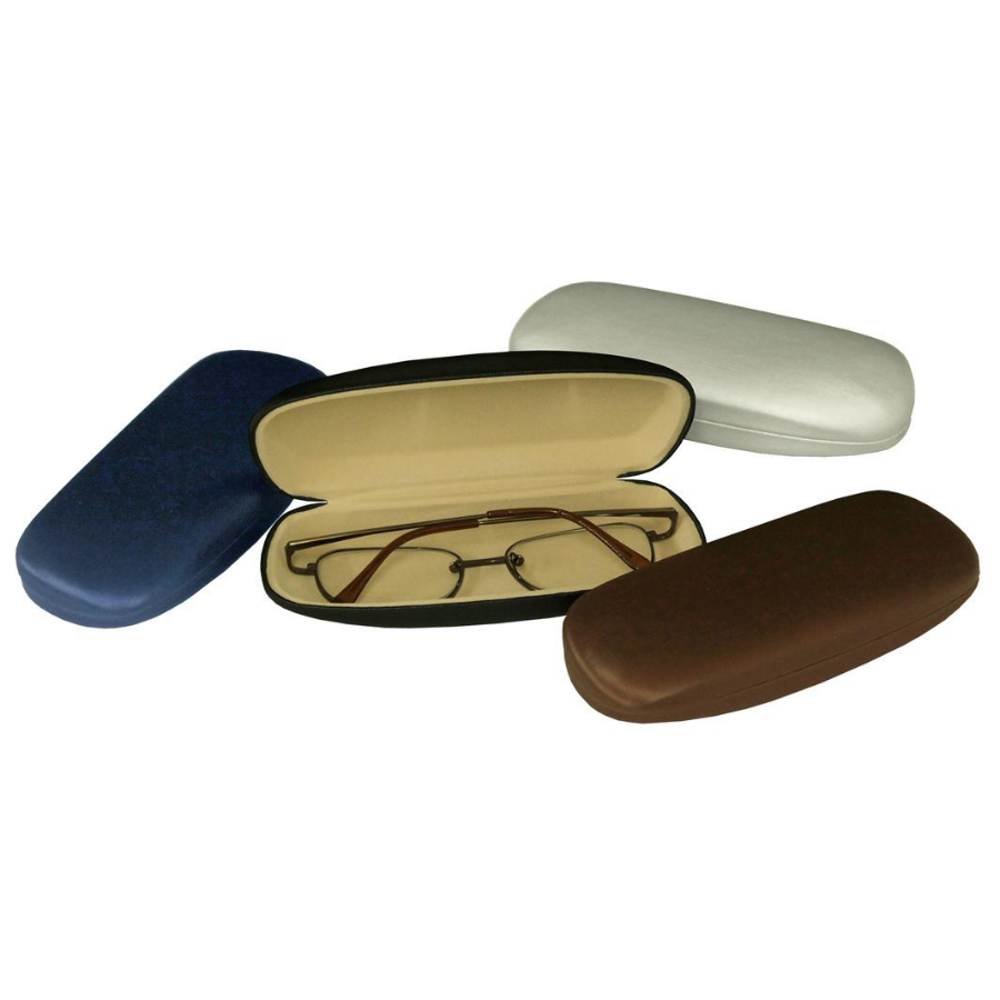 Assorted Brushed Leatherette Clam Shell Cases