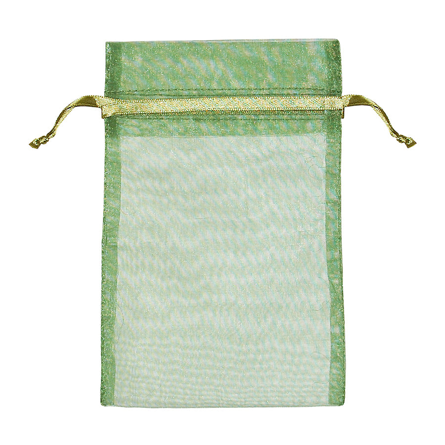 "Light Green Organza Pouch 3"" x 5"""