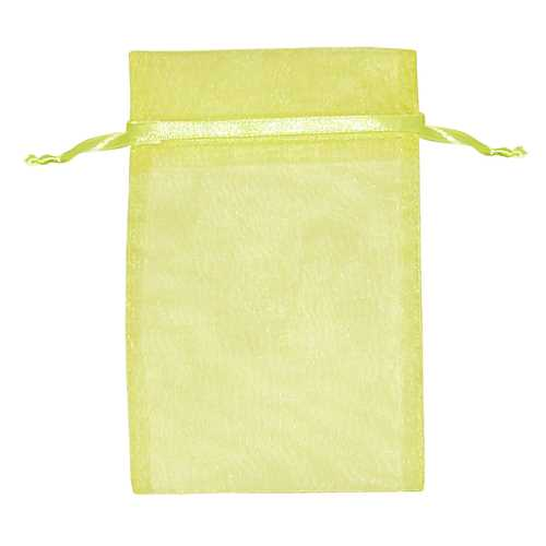 "Light Yellow Organza Pouch 2-1/2"" x 4"""