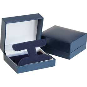 Traditional Collection T-Hoop Earring Box in Blue