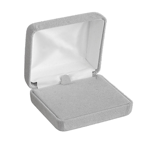 Light Grey Velour Earring/Pendant Boxes