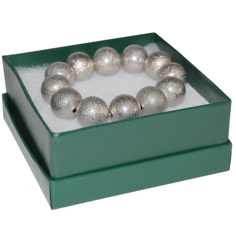 "Green Cotton Filled Box 3-1/2"" x 3-1/2"" x 1-1/2"""