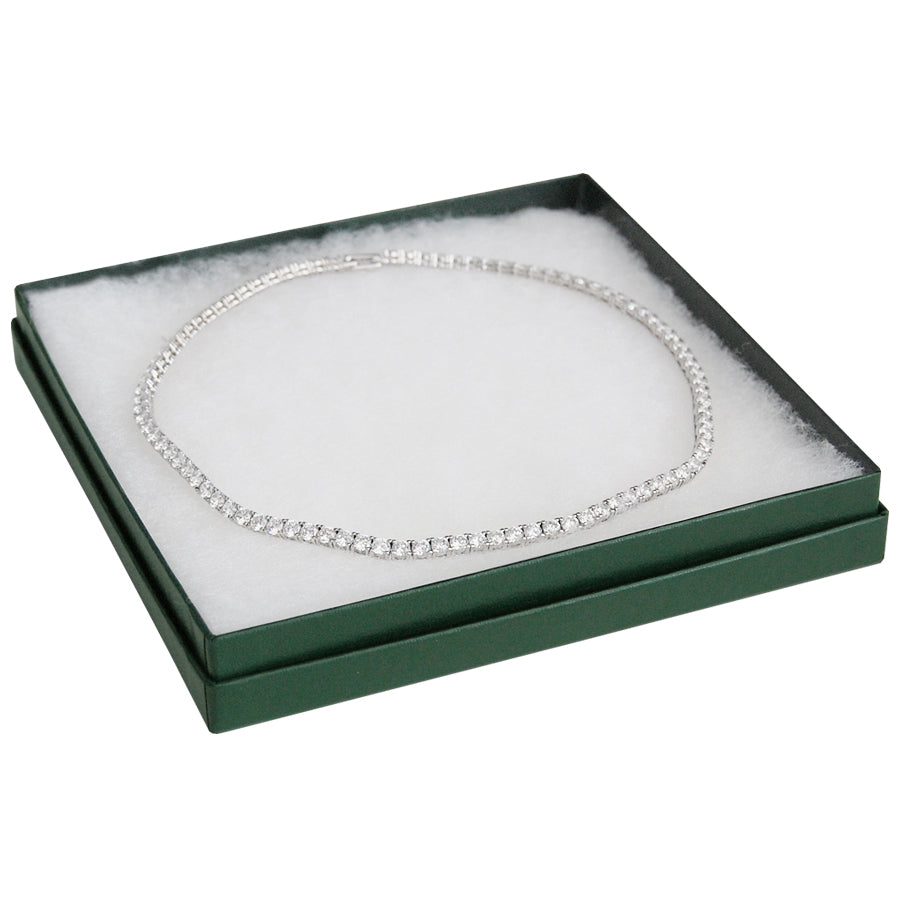 "Green Cotton Filled Box 6-1/4"" x 6-1/4"" x 1"""