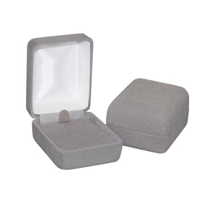 Light Gray Velour Earring/Pendant Boxes