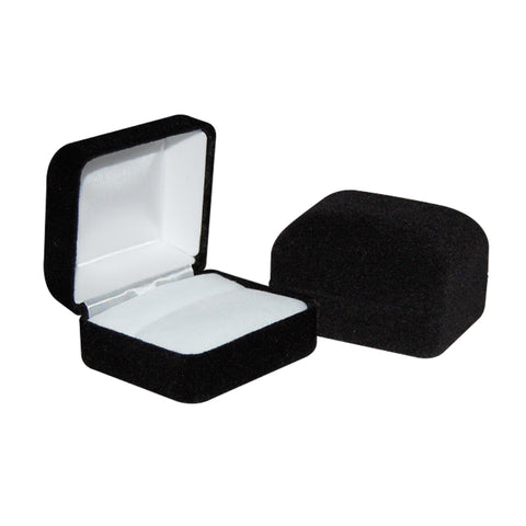 Black Velour Ring Box