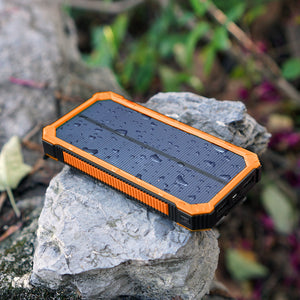 15000mAh Portable Solar Power Bank Outdoor External Battery Charger for iPhone Samsung Huawei Smartphone Xiaomi
