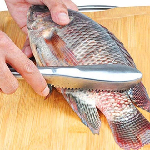 Stainless Steel Fish Scale Cleaning Knife Kitchen Gadget