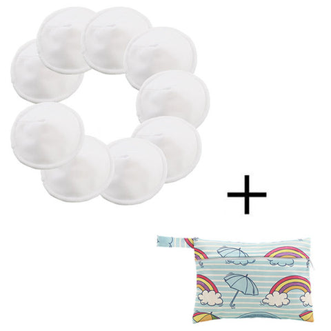 Image of Reusable Bamboo Breast Nursing Pads For Mom