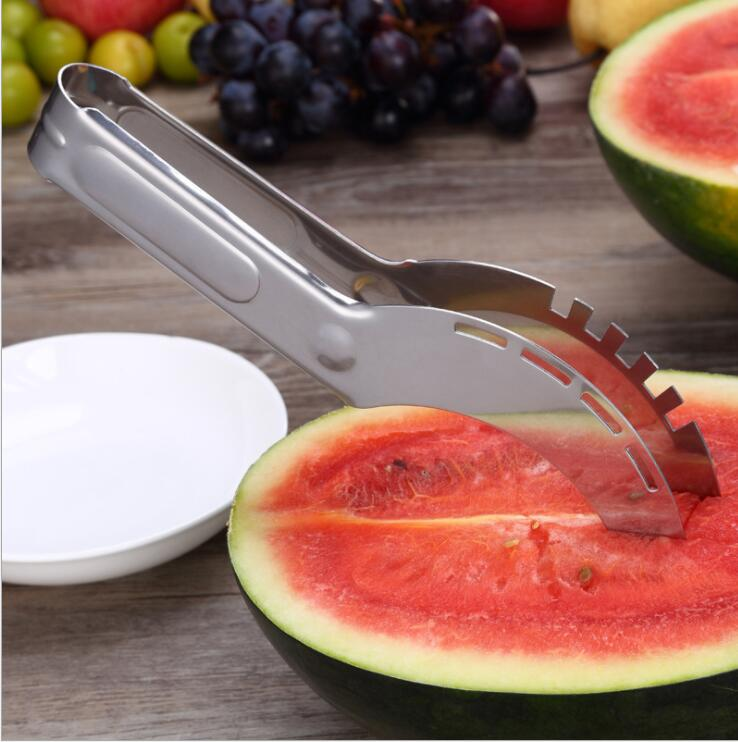 Stainless Steel Watermelon Slicer Cutter Knife Corer Kitchen Gadget